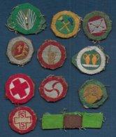 Scoutisme - Lot De 11 Insignes Brevets à Coudre - Padvinderij
