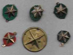 Scoutisme - Lot De 5 Insignes Métal à Coudre - Padvinderij