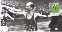 Commemorative Card - JO 1948 London - Gold Medal Winner - Gaston Reiff - 5000m.(A Voir - Te Zien) - Sommer 1948: London