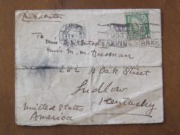 Ireland 1925 Cover Haile Athato USA - Sword - Bank Slogan - 1922-37 Stato Libero D'Irlanda