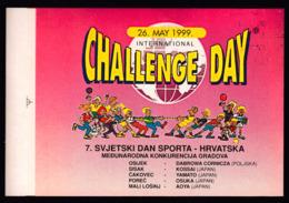 Croatia 1999 / 7th World Day Of Sport / International Challenge Day / Tug Of War / Sticker - Sports