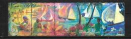 Kokos-îles 370-374 Bande De Cinq (complète.Edition.) Neuf Avec Gomme Originale 1999 Hari-Raya - Cocos (Keeling) Islands