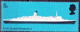 """Großbritannien Great Britain Grande-Bretagne - Passagierschiff """"Queen Elizabeth 2"""" (MiNr: 498) 1969 - Postfrisch MNH - 1952-.... (Elizabeth II)"""