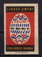 Tschechisches Zuendholzschachteletikett, Osterei (80252) - Zündholzschachteletiketten
