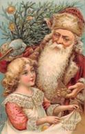 NOEL  - Joyeux Noel  - LOT De 3 Belles Cartes Gauffrées ( Pére Noel Et Enfant ) - Kerstmis