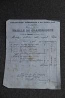 Facture Ancienne - THIERS, TREILLE DE GRANDSAIGNE : Parapluies, Ombrelles. - France
