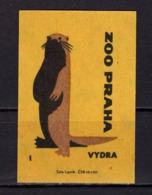Tschechisches Zuendholzschachteletikett, Otter (80257) - Zündholzschachteletiketten