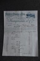 Facture Ancienne - EPINAL, CHAMPMANN Et Cie : Fabrique De Chapeaux De Paille - France