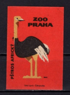 Tschechisches Zuendholzschachteletikett, Strauss (80258) - Zündholzschachteletiketten