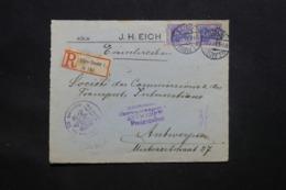 ALLEMAGNE - Enveloppe ( Devant ) En Recommandé De Cöln En 1917 Pour Anvers Avec Cachet De Contrôle - L 43057 - Cartas