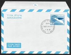 ISRAEL Aerogramme I£.20 Bird & Globe 1960 Tel Aviv Cancel! STK#X21277 - Airmail