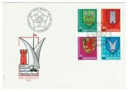Suisse//Schweiz//Svizerra // Switzerland// Pro- Juventute // 1981 // Lettre (FDC) Avec Série Oblitérée 1er Jour - Pro Juventute