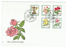 Suisse//Schweiz//Svizerra // Switzerland// Pro- Juventute // 1982 // Lettre (FDC) Avec Série Oblitérée 1er Jour - Pro Juventute
