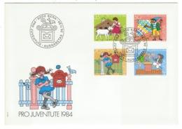 Suisse//Schweiz//Svizerra // Switzerland// Pro- Juventute // 1984 // Lettre (FDC) Avec Série Oblitérée 1er Jour - Pro Juventute