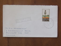 Ireland 1971 FDC Cover To England - Island Man By Jack Butler Painting - 1949-... Republic Of Ireland