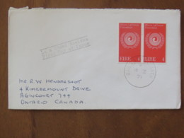 Ireland 1971 FDC Cover To Canada - Racial Equality Emblem - 1949-... Republic Of Ireland