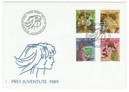 Suisse//Schweiz//Svizerra // Switzerland// Pro- Juventute // 1989 // Lettre (FDC) Avec Série Oblitérée 1er Jour - Pro Juventute