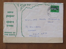 Ireland 1971 Recycled Cover To England - Deer - 1949-... Republic Of Ireland