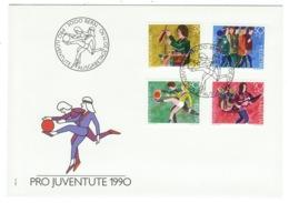 Suisse//Schweiz//Svizerra // Switzerland// Pro- Juventute // 1990 // Lettre (FDC) Avec Série Oblitérée 1er Jour - Pro Juventute