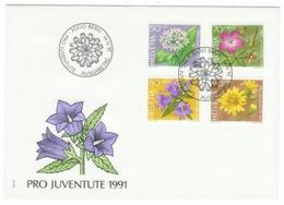 Suisse//Schweiz//Svizerra // Switzerland// Pro- Juventute // 1991 // Lettre (FDC) Avec Série Oblitérée 1er Jour - Pro Juventute