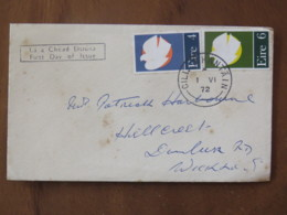 Ireland 1972 FDC Cover To England - Patriot Dead Of 1922-23 - Dove - 1949-... Republic Of Ireland