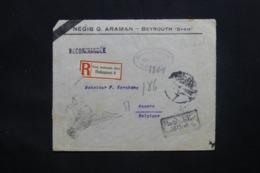 ALLEMAGNE - Enveloppe ( Devant ) En Recommandé De Beyrouth Pour Anvers Avec Marque De Contrôle Postal (1914/18)- L 43058 - Non Classificati
