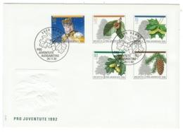 Suisse//Schweiz//Svizerra // Switzerland// Pro- Juventute // 1992 // Lettre (FDC) Avec Série Oblitérée 1er Jour - Pro Juventute