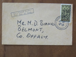 Ireland 1972 FDC Cover To England - Olympic Games Munich Rider - 1949-... Republic Of Ireland