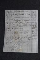 Facture Ancienne - CLERMONT FERRAND, B.QUEYRIAUX Fils, Fabrique D'empeignes De Galoches. - France