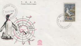 Enveloppe   FDC   1er  Jour   T.A.A.F   ALBATROS   1968 - FDC