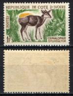 COSTA D'AVORIO - 1963 - CEPHALOPHUS SYLVICULTOR - MNH - Costa D'Avorio (1960-...)