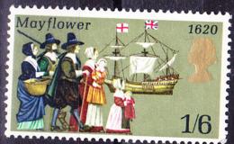 """Großbritannien Great Britain Grande-Bretagne - Ausreise Der """"Mayflower"""" Aus Plymouth (MiNr: 542) 1970 - Postfrisch MNH - 1952-.... (Elizabeth II)"""