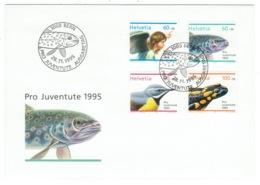 Suisse//Schweiz//Svizerra // Switzerland// Pro- Juventute // 1995 // Lettre (FDC) Avec Série Oblitérée 1er Jour - Pro Juventute
