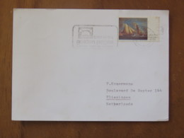 Ireland 1974 Card To Holland - Sailing Ship Painting - Phone Guide Slogan - 1949-... Republic Of Ireland