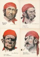 Lot De 20 Cartes---dessinateur Etienne Blandin----corsaires - 5 - 99 Postkaarten
