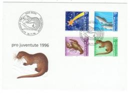 Suisse//Schweiz//Svizerra // Switzerland// Pro- Juventute // 1996 // Lettre (FDC) Avec Série Oblitérée 1er Jour - Pro Juventute