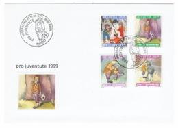 Suisse//Schweiz//Svizerra // Switzerland// Pro- Juventute // 1999 // Lettre (FDC) Avec Série Oblitérée 1er Jour - Pro Juventute