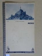 Le Beau Pays De France, Présenté Par COINTREAU - MENU PUB - Le Mont Saint Michel - Menus