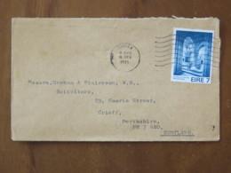 Ireland 1975 Cover Biggra To Scotland - Holycross Abbey - 1949-... Republic Of Ireland