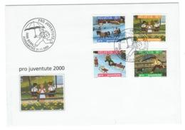 Suisse//Schweiz//Svizerra // Switzerland// Pro- Juventute // 2000 // Lettre (FDC) Avec Série Oblitérée 1er Jour - Pro Juventute