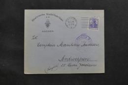 ALLEMAGNE - Enveloppe Commerciale De Aachen Pour Anvers En 1915 Avec Cachet De Censure - L 43062 - Covers & Documents