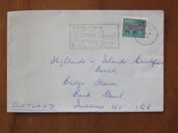 Ireland 1976 Cover To Scotland - Deer - Speed Delivery Slogan - 1949-... Republic Of Ireland