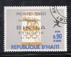 APR2986 - HAITI 1969 , Posta Aerea  Yvert N. 412  Usato Con Gomma (2380A)  Olimpiadi Bikila - Haiti