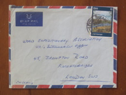 Ireland 1977 Cover To England - Ballynahinch Viw (stamp Cut) - 1949-... Republic Of Ireland