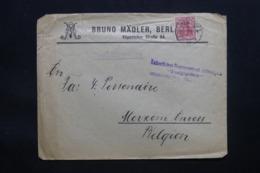 ALLEMAGNE - Enveloppe Commerciale De Berlin En 1917  Avec Cachet De Censure, Affranchissement Perforé - L 43065 - Allemagne