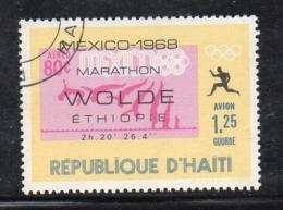 APR2988 - HAITI 1969 , Posta Aerea  Yvert N. 414  Usato Con Gomma (2380A)  Olimpiadi Wolde - Haiti