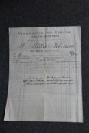 Facture Ancienne - LYON, BILLAZ Fils Ainé, Mercerie En Gros - France