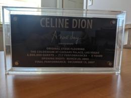 Céline Dion-Plancher De Scène D'origine/Original Stage Flooring - Altri Oggetti
