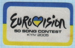 Ukraine / Patch, Abzeichen, Parche, Ecusson / EUROVISION 50 Song Contest. KYIV 2005 - Advertising