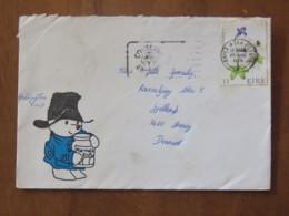 Ireland 1978 Cover Baile Atha To Denmark - Flowers - Teddy Bear Cartoon - 1949-... Republic Of Ireland